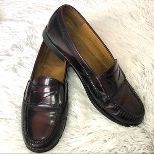 Cole Haan Men's burgundy pinched penny loafers